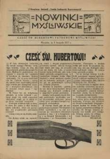 Nowinki Myśliwskie 1927 Nr11