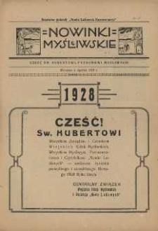 Nowinki Myśliwskie 1928 Nr1