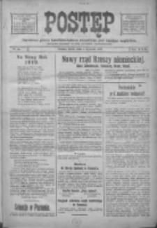 Postęp: narodowe pismo katolicko-ludowe niezależne pod każdym względem 1919.01.01 R.30 Nr1