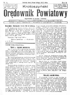 Krotoszyński Orędownik Powiatowy 1932.02.20 R.57 Nr14