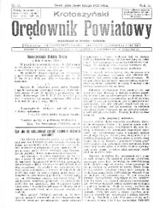 KKrotoszyński Orędownik Powiatowy 1932.02.24 R.57 Nr15