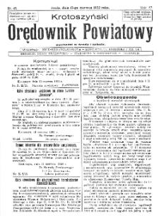 Krotoszyński Orędownik Powiatowy 1932.06.15 R.57 Nr45