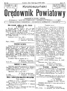 Krotoszyński Orędownik Powiatowy 1932.07.09 R.57 Nr52