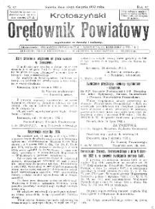 Krotoszyński Orędownik Powiatowy 1932.08.13 R.57 Nr62
