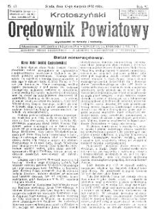 Krotoszyński Orędownik Powiatowy 1932.08.17 R.57 Nr63