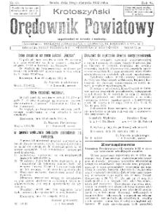 Krotoszyński Orędownik Powiatowy 1932.08.24 R.57 Nr65