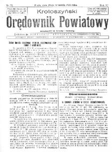 Krotoszyński Orędownik Powiatowy 1932.09.28 R.57 Nr75
