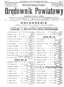Krotoszyński Orędownik Powiatowy 1932.11.28 R.57 Nr92