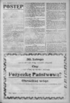 Postęp: narodowe pismo katolicko-ludowe niezależne pod każdym względem 1919.02.14 R.30 Nr37