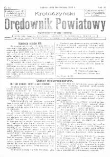 Krotoszyński Orędownik Powiatowy 1933.08.26 R.58 Nr67