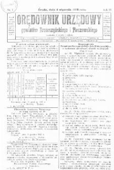 Orędownik Urzędowy Powiatów Krotoszyńskiego i Pleszewskiego 1928.01.04 R.55 Nr1