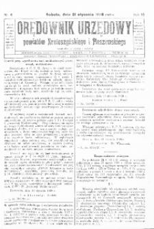 Orędownik Urzędowy Powiatów Krotoszyńskiego i Pleszewskiego 1928.01.21 R.55 Nr6