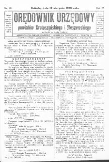 Orędownik Urzędowy Powiatów Krotoszyńskiego i Pleszewskiego 1928.08.18 R.55 Nr66