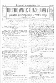 Orędownik Urzędowy Powiatów Krotoszyńskiego i Pleszewskiego 1928.09.19 R.55 Nr75
