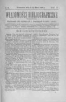 Wiadomości Bibliograficzne Warszawskie. 1885 R.4 nr2