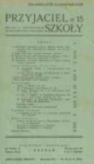 Przyjaciel Szkoły. 1937 R.16 nr15