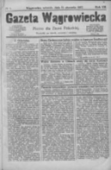 Gazeta Wągrowiecka: pismo dla ziemi pałuckiej 1927.01.11 R.7 Nr5