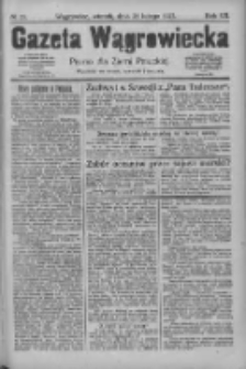 Gazeta Wągrowiecka: pismo dla ziemi pałuckiej 1927.02.22 R.7 Nr23