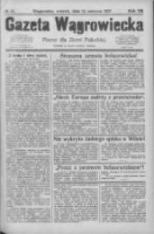 Gazeta Wągrowiecka: pismo dla ziemi pałuckiej 1927.06.14 R.7 Nr69