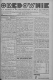 Orędownik na powiaty nowotomyski i wolsztyński 1937.08.19 R.18 Nr91