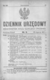 Dziennik Urzędowy Ministerstwa Byłej Dzielnicy Pruskiej 1921.01.28 R.2 Nr4