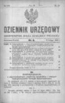 Dziennik Urzędowy Ministerstwa Byłej Dzielnicy Pruskiej 1921.02.11 R.2 Nr6