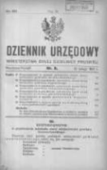 Dziennik Urzędowy Ministerstwa Byłej Dzielnicy Pruskiej 1921.02.21 R.2 Nr8