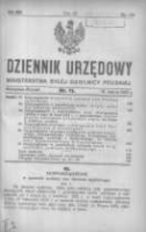 Dziennik Urzędowy Ministerstwa Byłej Dzielnicy Pruskiej 1921.03.12 R.2 Nr11