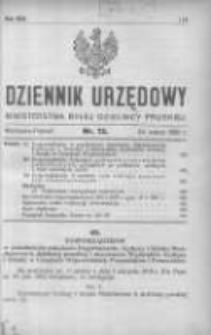 Dziennik Urzędowy Ministerstwa Byłej Dzielnicy Pruskiej 1921.03.24 R.2 Nr13