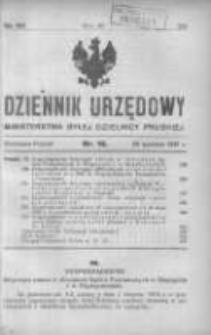 Dziennik Urzędowy Ministerstwa Byłej Dzielnicy Pruskiej 1921.04.26 R.2 Nr16