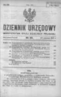 Dziennik Urzędowy Ministerstwa Byłej Dzielnicy Pruskiej 1921.06.23 R.2 Nr22