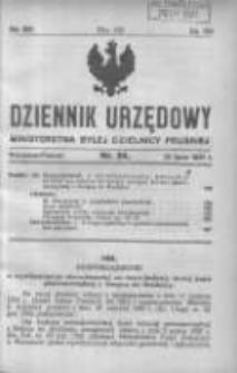 Dziennik Urzędowy Ministerstwa Byłej Dzielnicy Pruskiej 1921.07.15 R.2 Nr24
