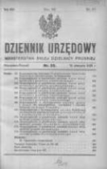 Dziennik Urzędowy Ministerstwa Byłej Dzielnicy Pruskiej 1921.08.19 R.2 Nr25