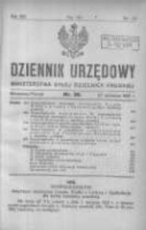 Dziennik Urzędowy Ministerstwa Byłej Dzielnicy Pruskiej 1921.09.27 R.2 Nr28