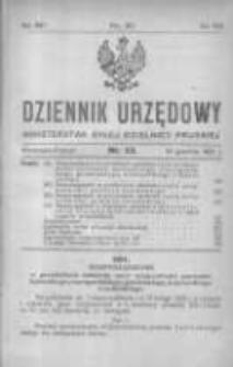 Dziennik Urzędowy Ministerstwa Byłej Dzielnicy Pruskiej 1921.12.15 R.2 Nr33