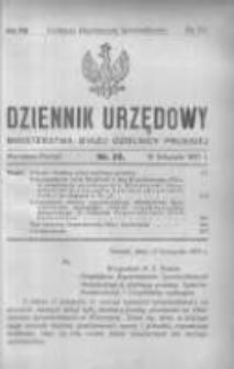 Dziennik Urzędowy Ministerstwa Byłej Dzielnicy Pruskiej 1921.11.13 R.2 Nr32