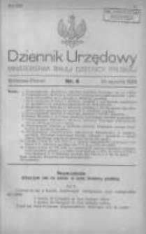 Dziennik Urzędowy Ministerstwa Byłej Dzielnicy Pruskiej 1920.01.30 R.1 Nr4