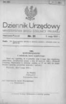 Dziennik Urzędowy Ministerstwa Byłej Dzielnicy Pruskiej 1920.05.05 R.1 Nr21