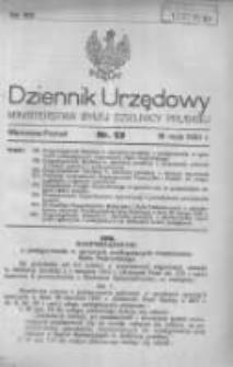 Dziennik Urzędowy Ministerstwa Byłej Dzielnicy Pruskiej 1920.05.18 R.1 Nr23