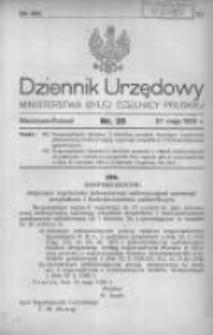Dziennik Urzędowy Ministerstwa Byłej Dzielnicy Pruskiej 1920.05.27 R.1 Nr25