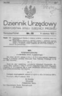 Dziennik Urzędowy Ministerstwa Byłej Dzielnicy Pruskiej 1920.06.09 R.1 Nr30