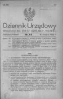 Dziennik Urzędowy Ministerstwa Byłej Dzielnicy Pruskiej 1920.08.12 R.1 Nr44
