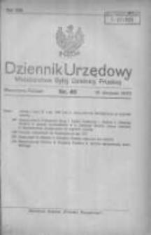 Dziennik Urzędowy Ministerstwa Byłej Dzielnicy Pruskiej 1920.08.18 R.1 Nr45