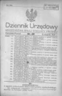 Dziennik Urzędowy Ministerstwa Byłej Dzielnicy Pruskiej 1920.08.19 R.1 Nr46