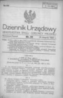 Dziennik Urzędowy Ministerstwa Byłej Dzielnicy Pruskiej 1920.08.31 R.1 Nr51