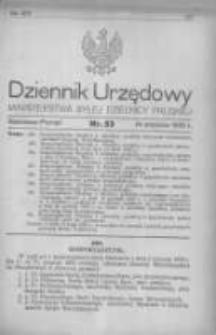 Dziennik Urzędowy Ministerstwa Byłej Dzielnicy Pruskiej 1920.09.14 R.1 Nr53