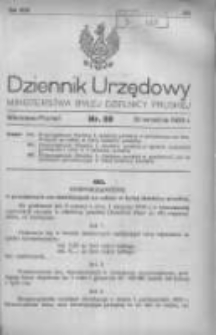 Dziennik Urzędowy Ministerstwa Byłej Dzielnicy Pruskiej 1920.09.30 R.1 Nr59