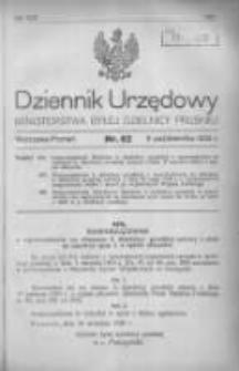 Dziennik Urzędowy Ministerstwa Byłej Dzielnicy Pruskiej 1920.10.09 R.1 Nr62