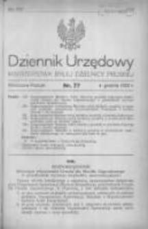 Dziennik Urzędowy Ministerstwa Byłej Dzielnicy Pruskiej 1920.12.04 R.1 Nr77
