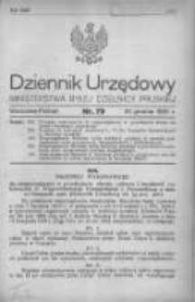 Dziennik Urzędowy Ministerstwa Byłej Dzielnicy Pruskiej 1920.12.20 R.1 Nr79
